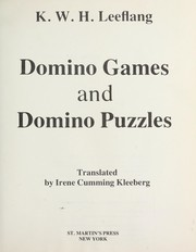 Cover of: Domino games and domino puzzles