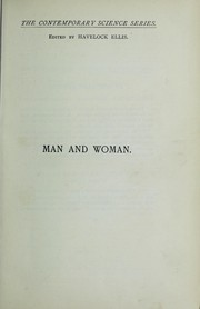 Cover of: Man and woman