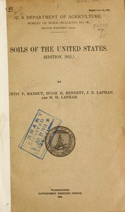 Cover of: Soils of the United States