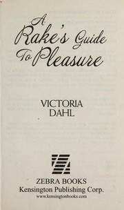 Cover of: A rake's guide to pleasure