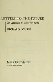 Cover of: Letters to the future