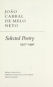 Cover of: Selected poetry, 1937-1990