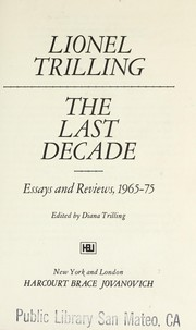 Cover of: The last decade