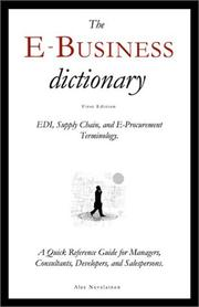 Cover of: The E-Business Dictionary