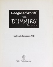 Cover of: Google AdWords for dummies | Howie Jacobson