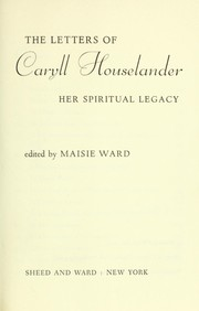 Cover of: The letters of Caryll Houselander