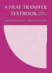 Cover of: A heat transfer textbook |