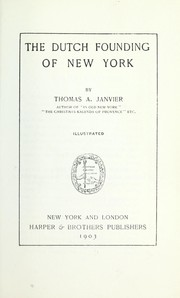 Cover of: The Dutch Founding of New York (Heritage Classic)