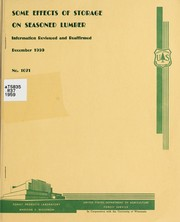 Cover of: Some effects of storage on seasoned lumber