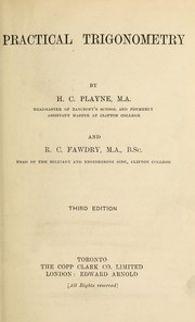Cover of: Practical trigonometry | H. C. Playne