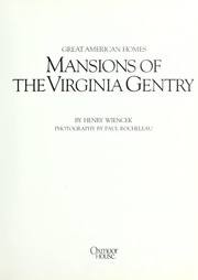 Cover of: Mansions of the Virginia gentry
