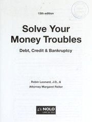 Cover of: Solve your money troubles