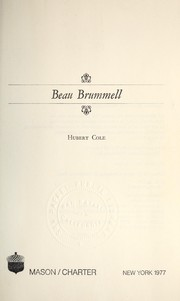 Cover of: Beau Brummell