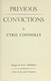 Cover of: Previous convictions