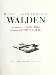 Cover of: Walden | Steve Lowe