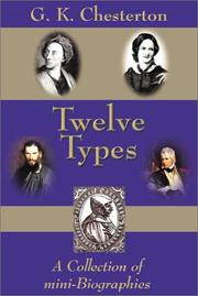 Cover of: Twelve types