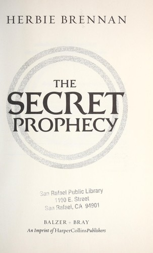 The secret prophecy by Herbie Brennan