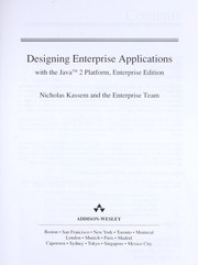 Cover of: Designing Enterprise applications with the Java 2 Platform, Enterprise edition
