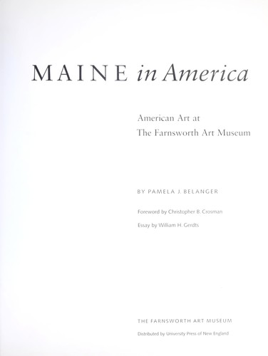 Maine in America by Pamela J. Belanger