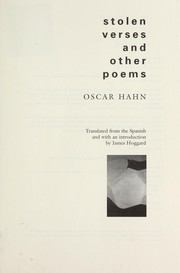 Cover of: Stolen verses and other poems