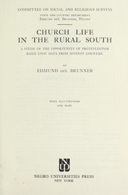 Cover of: Church life in the rural South | Edmund de Schweinitz Brunner