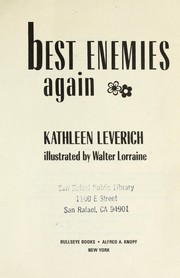 Cover of: Best enemies again
