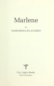 Cover of: Marlene