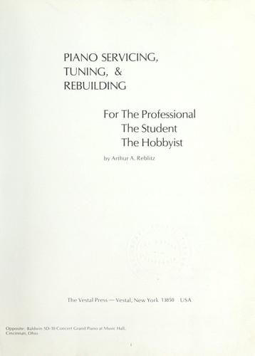 Piano servicing, tuning, & rebuilding