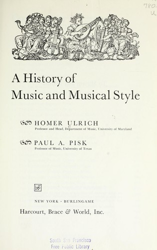A history of music and musical style