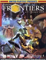 Cover of: Gaming Frontiers for All Things D20 (Gaming Frontiers)