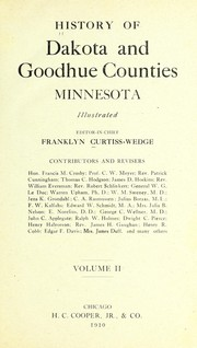 History of Dakota and Goodhue counties, Minnesota