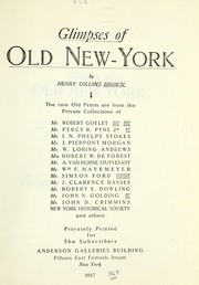 Cover of: Glimpses of old New-York