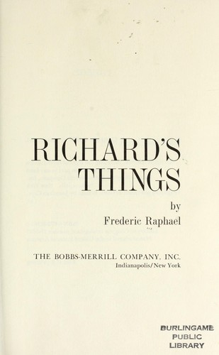 Richard's things by Raphael, Frederic