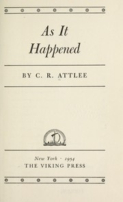 Cover of: As it happened