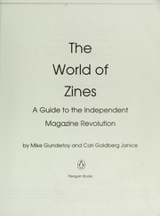 Cover of: The world of zines | Mike Gunderloy