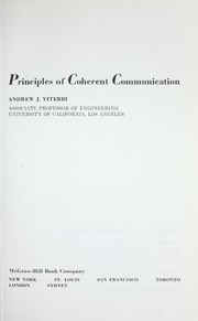 Cover of: Principles of coherent communication