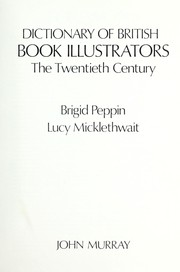 Cover of: Dictionary of British book illustrators