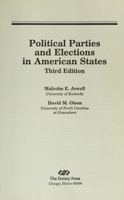Cover of: Political parties and elections in American states
