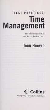 Cover of: Best practices--time management | John Hoover