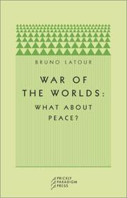 Cover of: War of the Worlds: What about Peace?