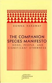 Cover of: The Companion Species Manifesto