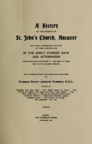 Cover of: A history of the parish of St. John
