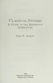 Cover of: Classical studies | Fred W. Jenkins