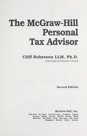 Cover of: The McGraw-Hill personal tax advisor