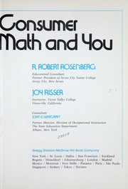 Cover of: Consumer math and you | R. Robert Rosenberg