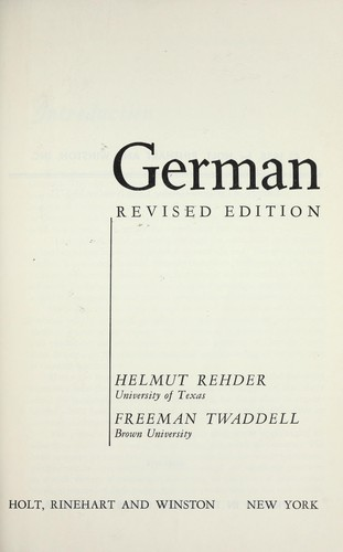 German by Helmut Rehder