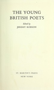 Cover of: The young British poets. | Jeremy Robson