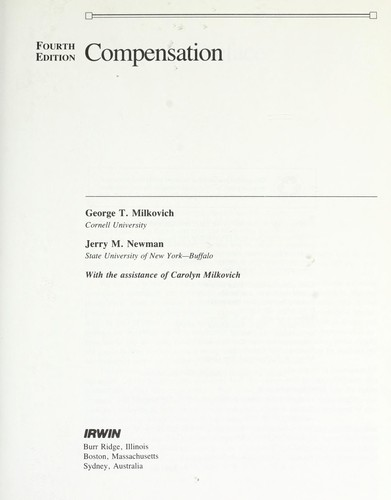 Compensation by George T. Milkovich