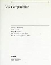 Cover of: Compensation | George T. Milkovich