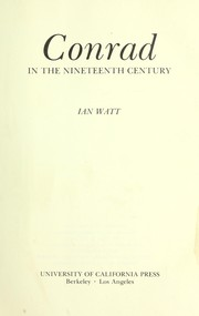 Cover of: Conrad in the nineteenth century